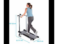 Pro Fitness Non-Motorised Treadmill | Foldable Exercise Running Fitness Machine