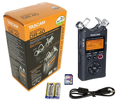 TASCAM DR-40 Linear PCM 4-Track Handheld Portable Audio Recorder w/ 2GB SD Card on Rummage