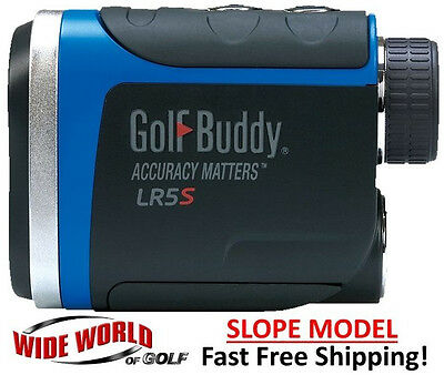NEW GOLFBUDDY GOLF BUDDY LR5S - 2016 SLOPE LASER RANGEFINDER BLACK BLUE