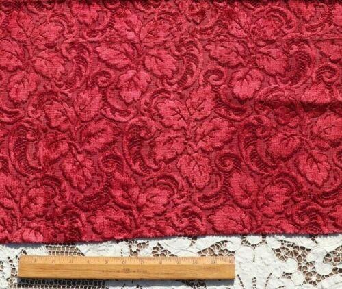 "Antique French Victorian Silk Cut Velvet Home Dec Textile Fabric~L-29"" X W-28"""