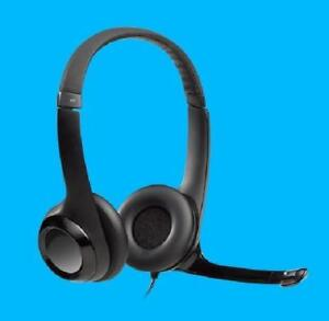 Logitech  H390 USB Computer Headset With enhanced digital audio and in-line controls - Black - 981-000014