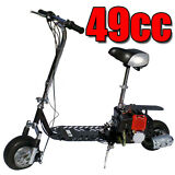 Fastest New All-Terrain 49cc 2-Stroke Gas Motor Scooter, RED in color
