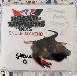 SIGNED CD - Rogue Traders vs INXS - One Of My Kind 2003 JG1 Blacktown Area Preview