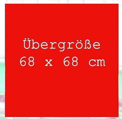 Bandana/Tuch 68x68 Red Uni Biker Halstuch Übergröße Western Cowboy