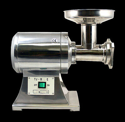 New MTN Commercial Stainless Steel True 1HP Electric Meat Sauage Grinder No #12