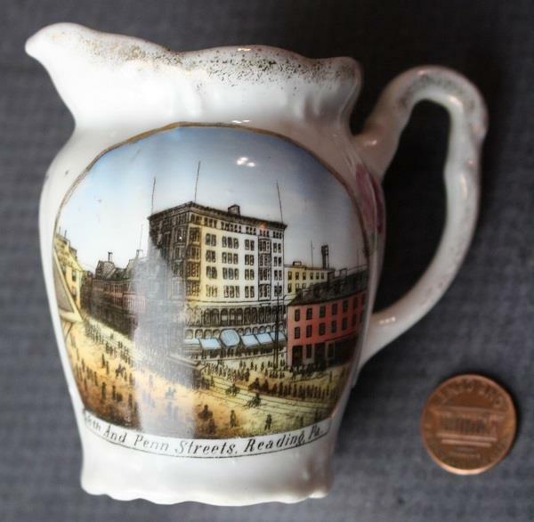 1910s Era Reading Pennsylvania 6th & Penn Streets creamer-Made in Germany-RARE!