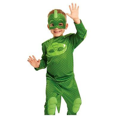 PJ MASKS GEKKO HERO Dress Up Set PYJAMA COSTUME + MASK