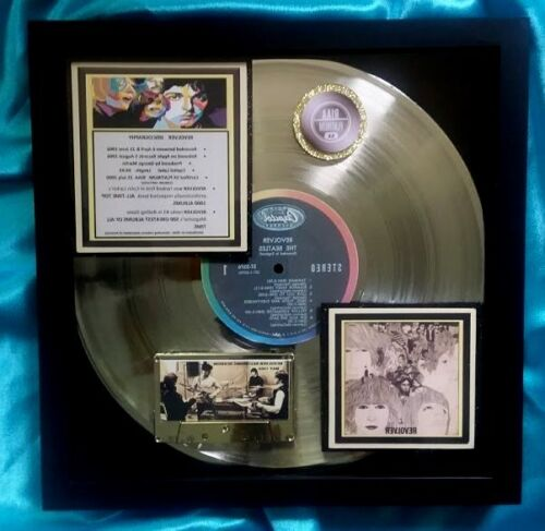 "BEATLES PLATINUM AWARD ALBUM  ""REVOLVER""  5-Million sales award  w/Cert of Authe"