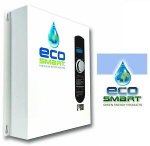 NEW ECOSMART TANKLESS WATER HEATER ECO 27 158468594 ELECTRIC 27KW AT 240 VOLTS W/ PATENTED SELF MODULATING TECHNOLOGY