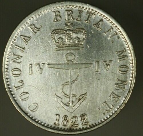 British West Indies  1/4 Dollar  Anchor Money    cleaned XF+   A1353