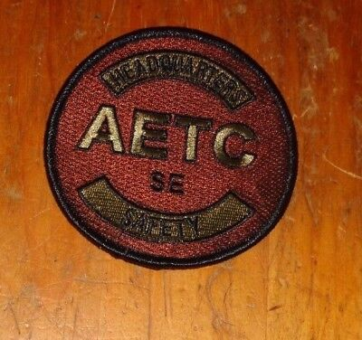 USAF,HQS AETC SAFETY OFFICE ,SCORPION,BROWN,w/HOOK  LOOP 1