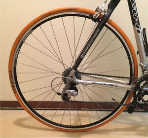 Bike trainer tire with wheel