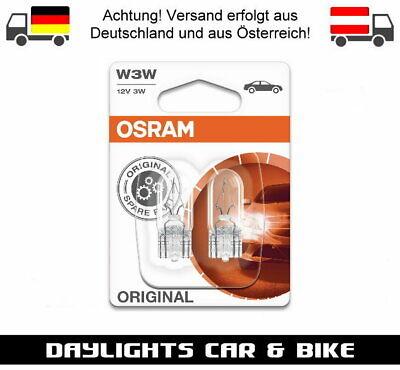 Osram W3W 12V 3W Halogen Lampe PKW Innenraum Auto Kennzeichen Birne 2 Stück