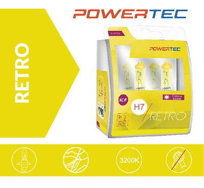 POWERTEC H7 RETRO Gelb Yellow Look Gold Optik Halogen Lampen Mit E  Prüfzeichen