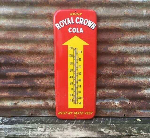 "Original 1951 RC ROYAL CROWN COLA DONASCO 25"" THERMOMETER SIGN"