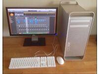"Apple Mac Pro Xeon 2.66 Quad Core SSD 12Gig RAM Pro Music Software 20"" Monitor CS6"