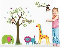 Blue lion with animals wall stickers