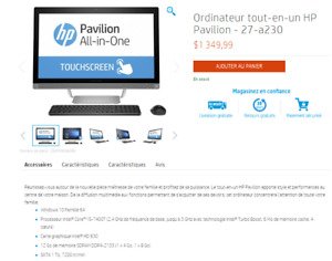 HP Pavilion 27-a200 27-a230 All-in-One Computer
