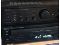 Denon Amp 5 disk cd charger & speakers