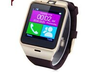 GV18 smart phone watch sim slot Bluetooth HANDSFREE BNIB
