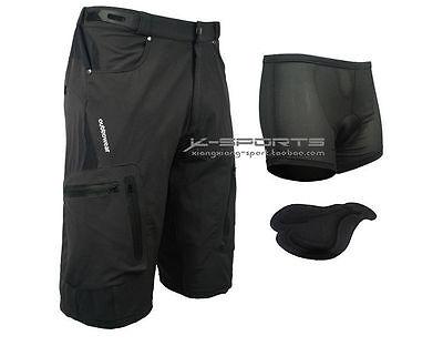 Black Cycling Men's Mountain Bike/Bicycle Shorts Half Pants (3D Padded Underwear