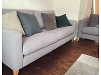 Marks & Spencer's Grey Contemporary 3-4 Seater Sofa, Great Condition!