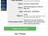 3 x sundown tickets need gone asap