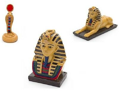 Mini Resin Ornament - Mini Egyptian Collection Aquarium Ornaments Resin Pharoah/Sphinx/Cobra 3pc