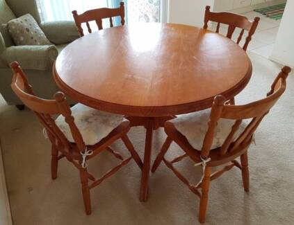 Dining Table and Chairs - Round - Solid Timber