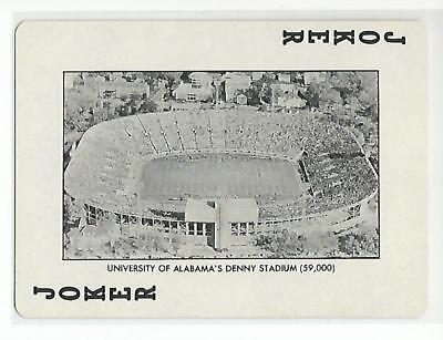 DENNY STADIUM 1973 Playing card Alabama Crimson Tide Football NR MT Alabama Crimson Tide Playing Card