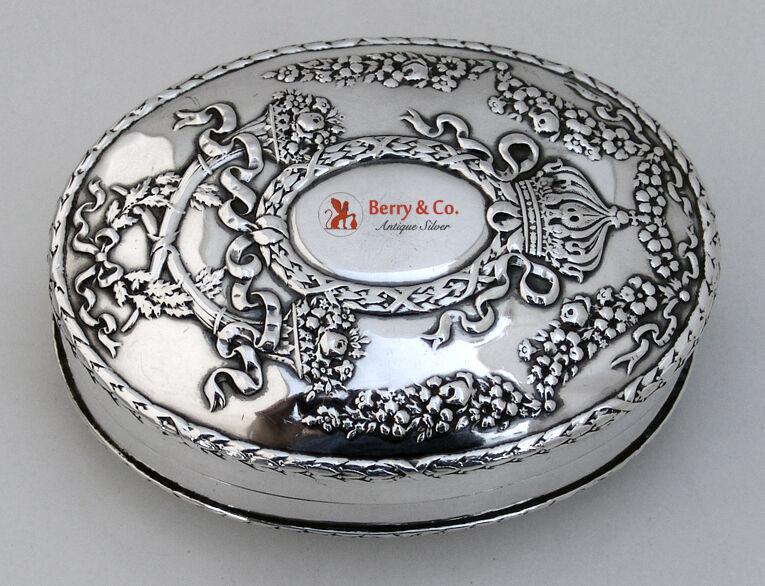 Empire Soap Box Sterling Silver Durgin 1895