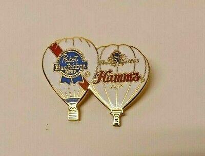 1985 Pabst and Hamm's Beer Hot Air Balloons metal lapel pin