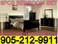 NO TAX 8PCS BEDROOM SET UNBEATABLE PRICE