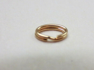 (One 14k Solid Y.Gold  3.7x5.9mm Split Ring Jump Ring Clasp for Charm Oval )