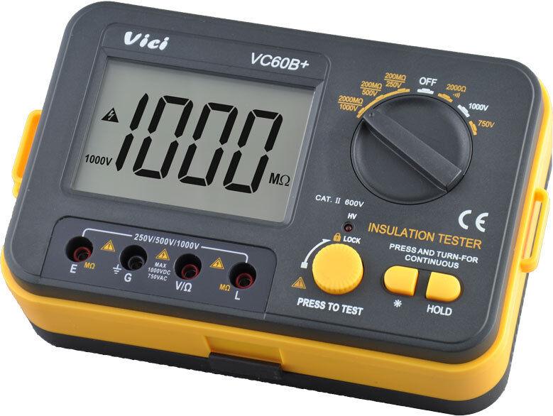 New VC60B+ Digital Insulation Resistance Tester Megger MegOhmmeter Meter
