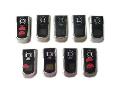 (9 Lot Nokia 2760 850 1900 mhz Bluetooth Email Flip GSM Used Parts LCD Wholesale)