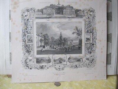 Vintage Print,PARIS ET SES SOUVENIRS,Vue Du - Jardin Vintage Print
