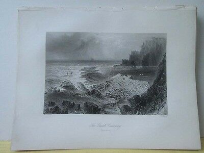 Vintage Print Giants Causeway Scenery Of Ireland Bartlett