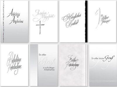 50 Trauerkarten Trauerkarte Trauer Beileidskarten Kondolenzkarten sk 4478