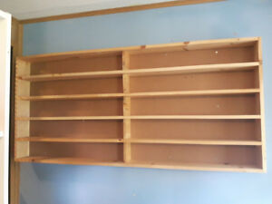 WOODEN DISPLAY SHELVE