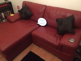 Small leather corner suite