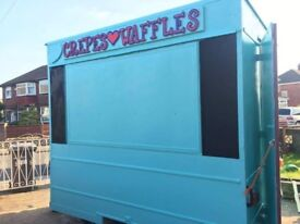 Catering Trailer With Double Crepe Maker & Bubble Waffle Maker.