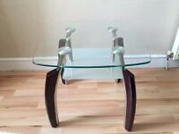 Mini Luxury Coffee table glass & wood