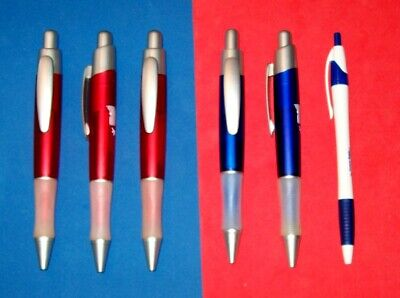 Pen Lot (5) EXTRA LARGE Wide Body BallPoint Pens Rubber Grips Pocket Clips NEW Extra Large Grip Pen