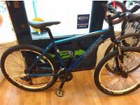 "Carrera Vulcan Blue Disc brakes, new suntour xct forks, 26"" wheels, Frame 18"" bicycle cycle bike"