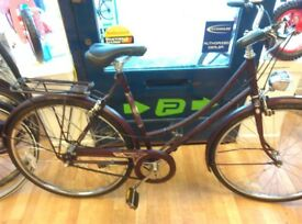 Ladies low step raleigh full mudguards, period bicycle fully working fine 700c wheel sturmey gears