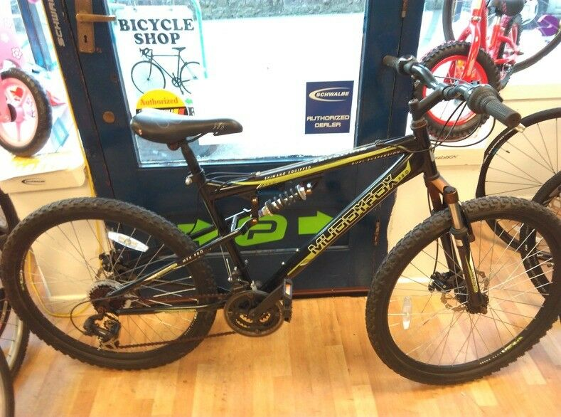 Muddyfox Pro full suspension mountain bike 18inch frame fully working order ready to use cycle bike