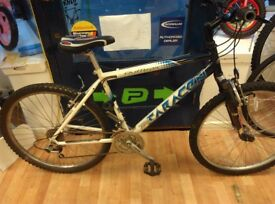 Saracen team alloy mountain bike frame 18inch with 26inch alloy wheels, new seat just fitted bicycle