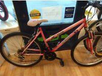 "Vertigo teide 18"" Frame Ladies mountain bike front suspension working and setup bicycle ladies"