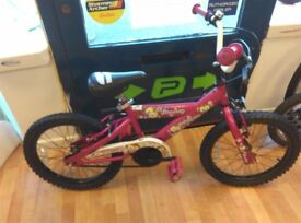 """lil monkey 16"""" wheels single speed, new tyres just fitted no problems ready to use cycle girls"""